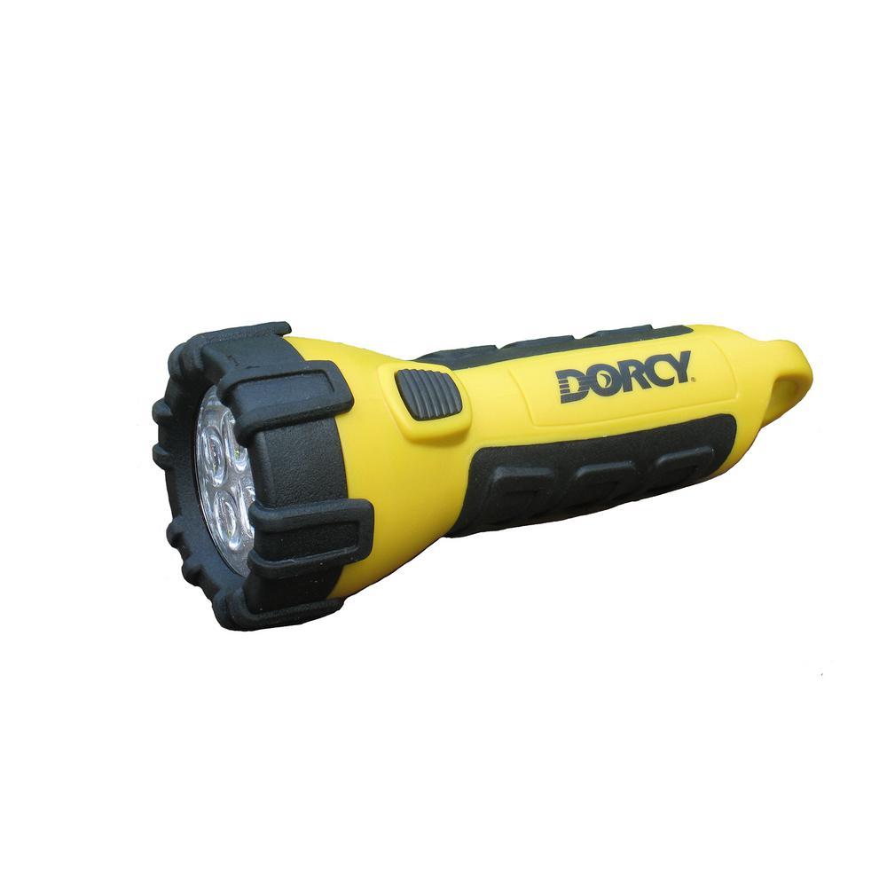 55 Lumen 3 AA 4 LED Carabineer Flashlight with Battery