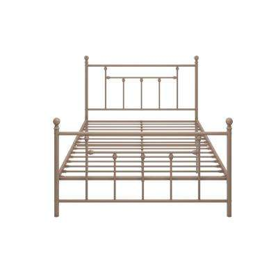 Mia Pink Full Size Metal Bed