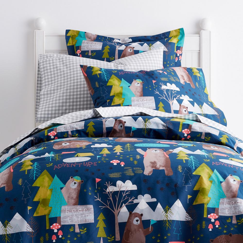 Bear Camp Cotton Percale Duvet Cover
