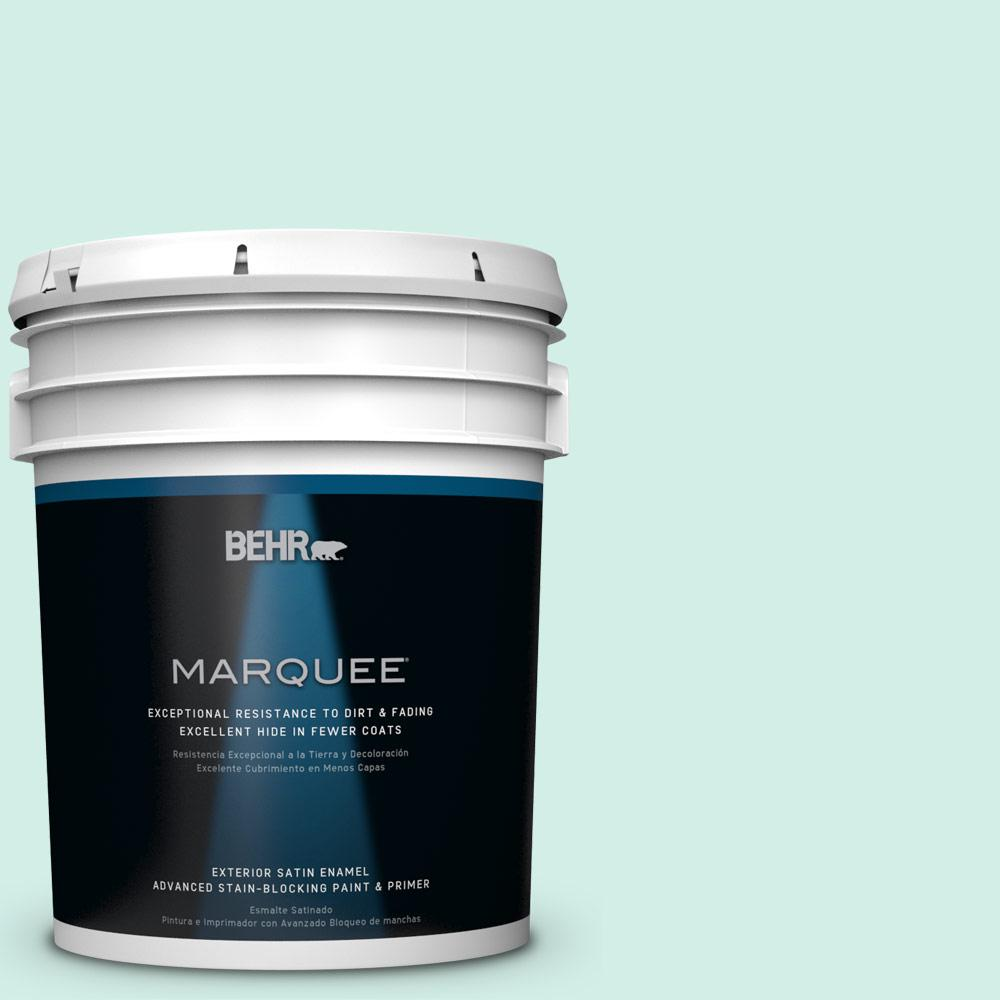 BEHR MARQUEE 5-gal. #HDC-MD-19 Soft Mint Satin Enamel Exterior Paint