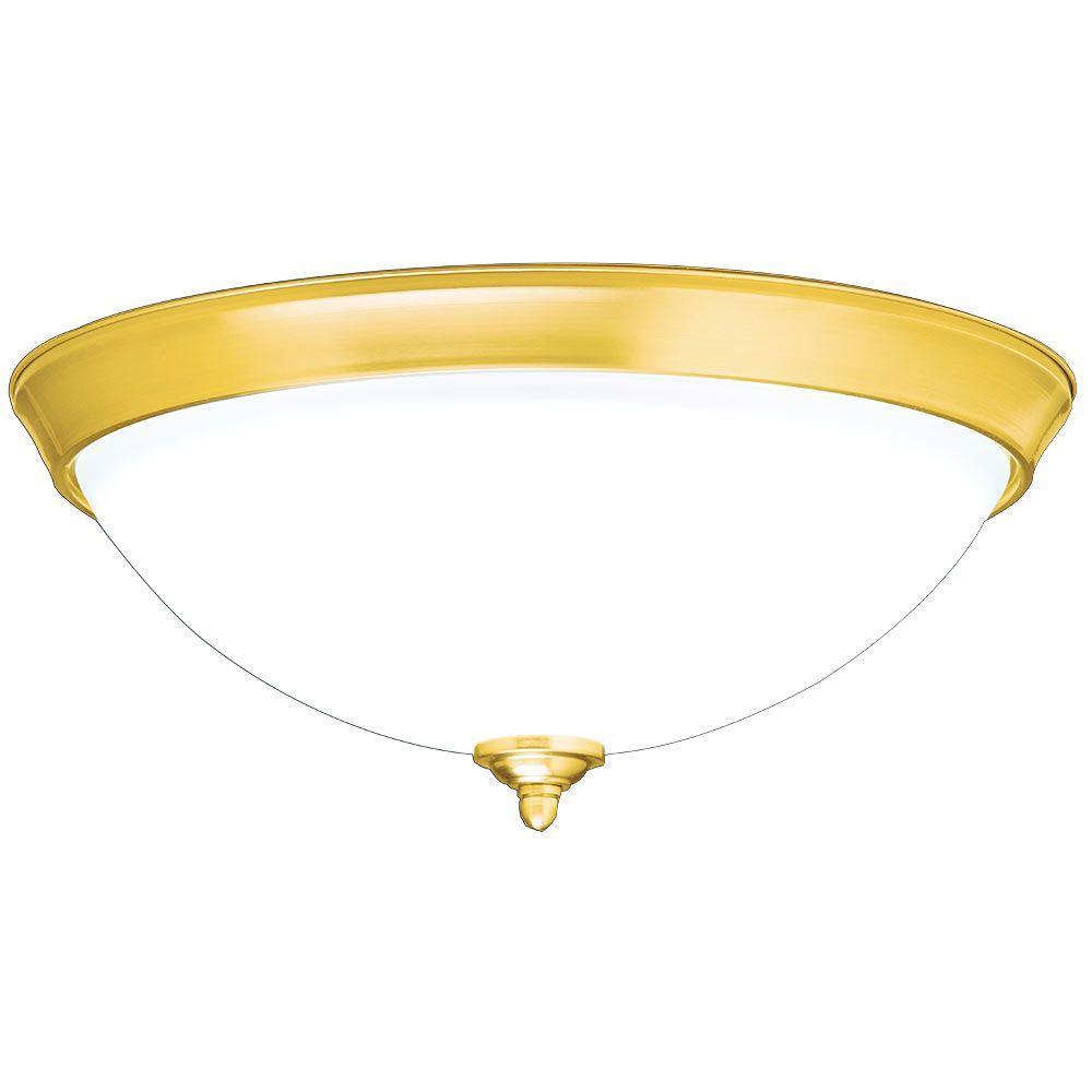 Polished Brass Decorative Flush-Mount Diffuser for TGR, THR, TCR, TMR, TGF, TMF, TLR 014 SUN TUNNEL Tubular Skylights