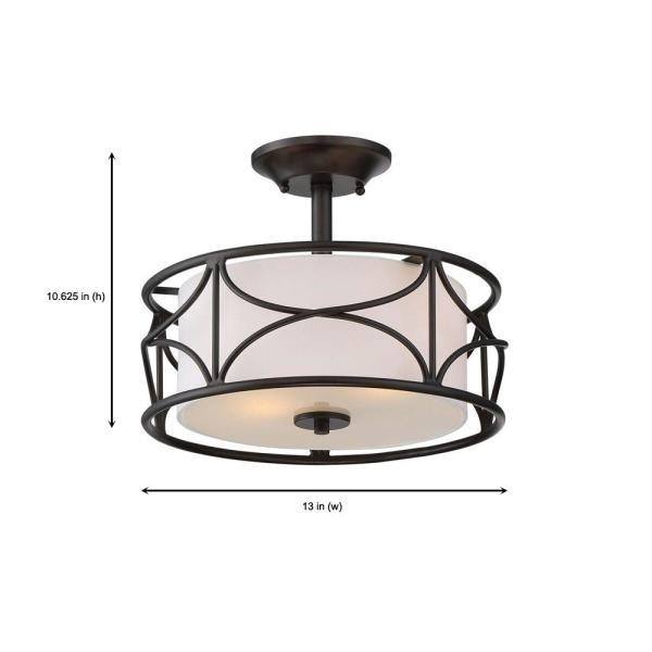 Designers Fountain 88611-ORB Semi-Flush Oil Rubbed Bronze