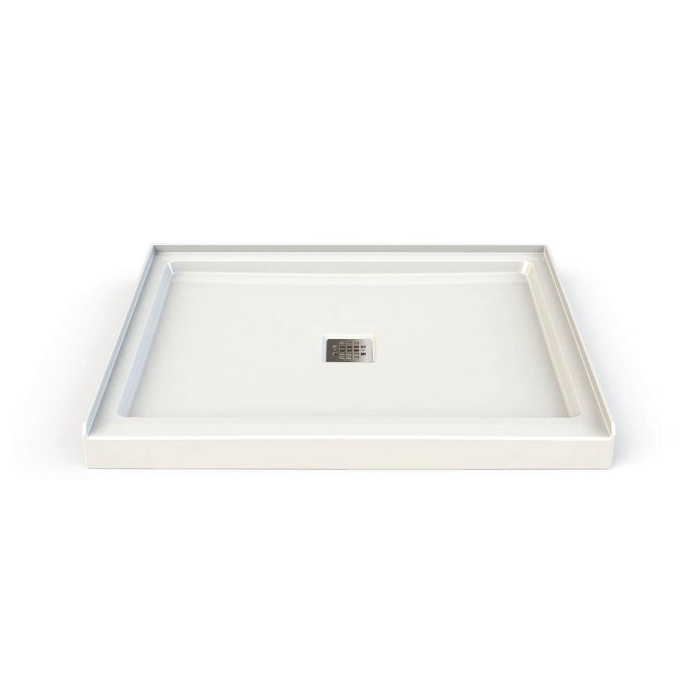 MAAX Hana 34 in. x 42 in. Double Threshold Shower Base in White ...