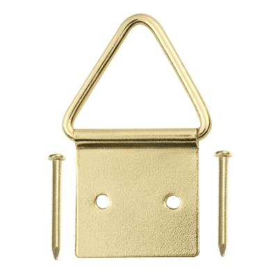 20 lb. Steel Brass-Plated Ring Hangers (2-Pack)