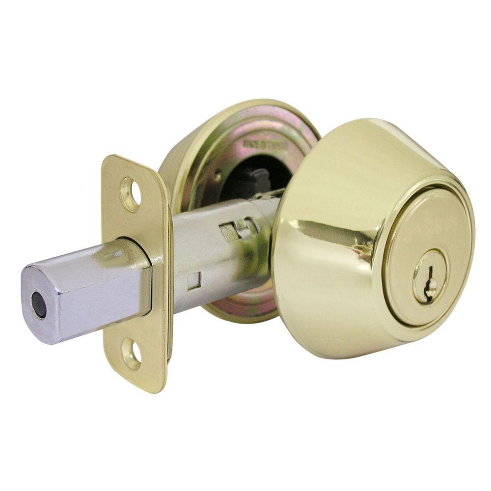 Polished Brass Double Cylinder Deadbolt