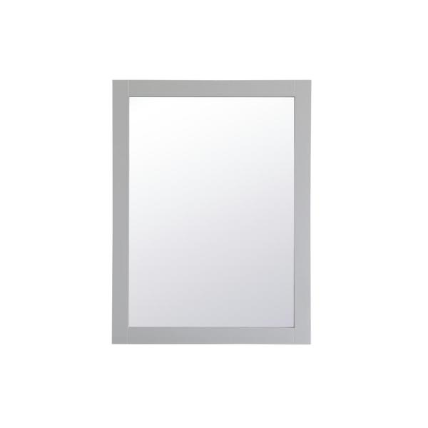 Medium Rectangle Grey Contemporary Mirror (32 in. H x 24 in. W)
