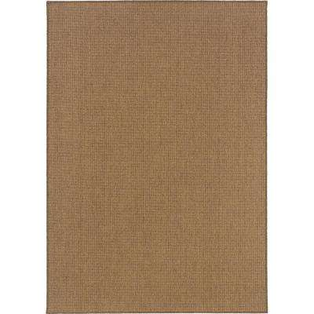 Caicos Solid Weave Tan 5 Ft 3 In X 7 Ft 6 In Indoor Outdoor Area Rug 819824 The Home Depot