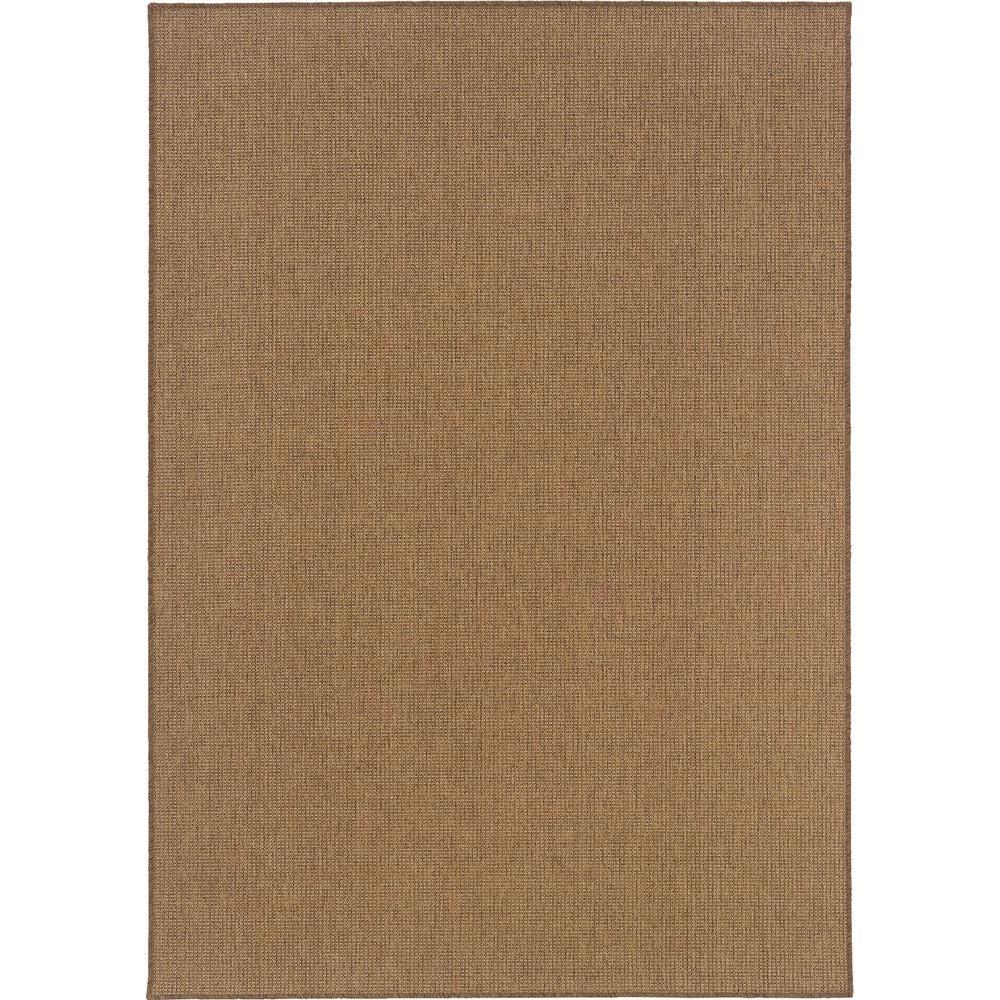 Caicos Solid Weave Tan 6 Ft 7 In X 9 Ft 6 In Indoor