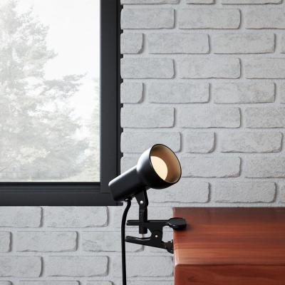 2-1/2 in. Black Portable Clip-On Lamp