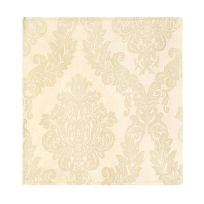 60 in. W x 84 in. L Oblong Antique Elrene Barcelona Damask Fabric Tablecloth