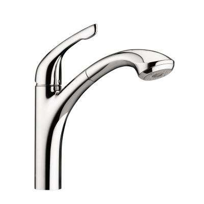 Allegro E Single-Handle Pull-Out Sprayer Kitchen Faucet in Chrome