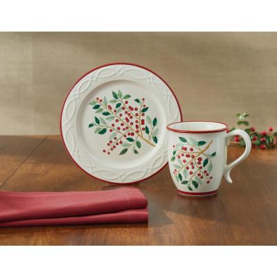 Simply Holly Multicolor Dessert Plate (Set of 4)