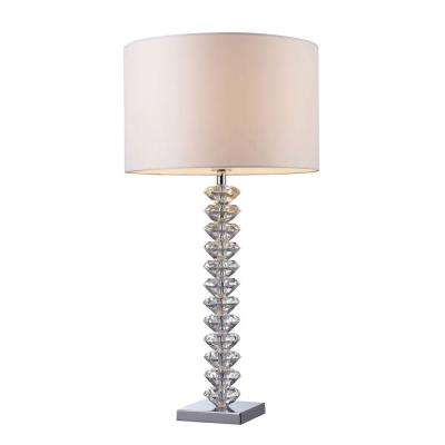 Solid Clear Crystal Table Lamp