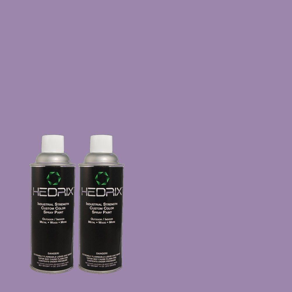 Hedrix 11 oz. Match of 1A34-5 Lilac Valley Low Lustre Custom Spray Paint (2-Pack)