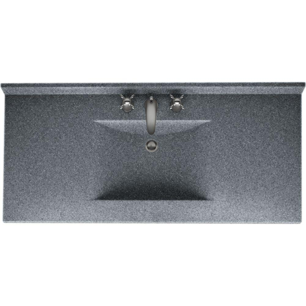 Swan Contour 43 In W X 22 In D Solid Surface Vanity Top With Sink In Night Sky Cv2243 012