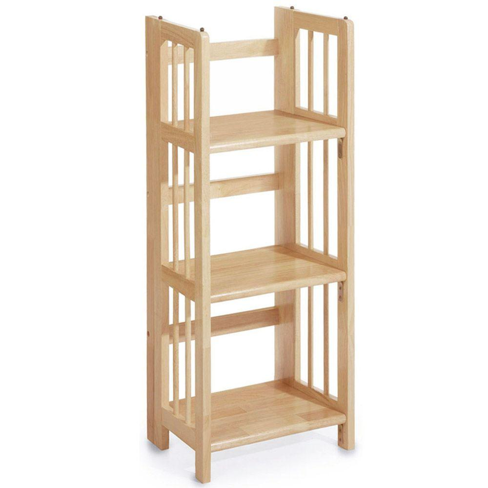 Home Decorators Collection Natural Folding/Stacking Open Bookcase