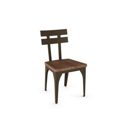 Rawdon Hammered Brown with Medium Brown Wood Seat Dining Chair (Set of 2)