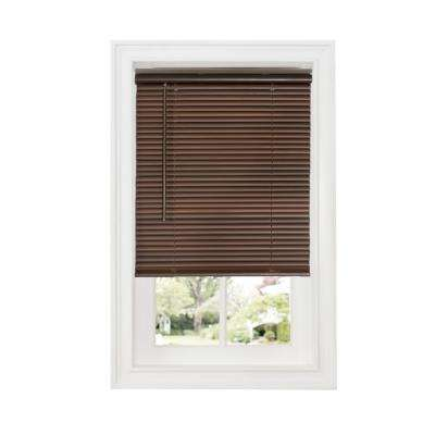 Mahogany 1 in. Cordless Room Darkening Vinyl Blind - 23 in. W x 64 in. L