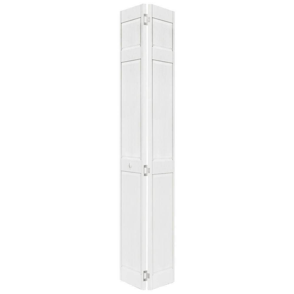 18 in x 80 in 6 panel white pvc composite interior bi for 18 door