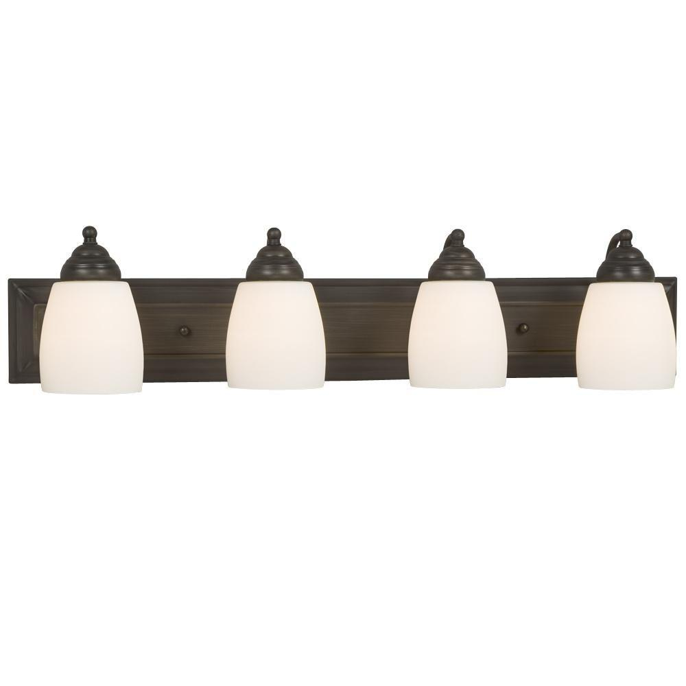 Filament Design Negron 4-Light Oil-Rubbed Bronze Incandescent Bath Vanity Light