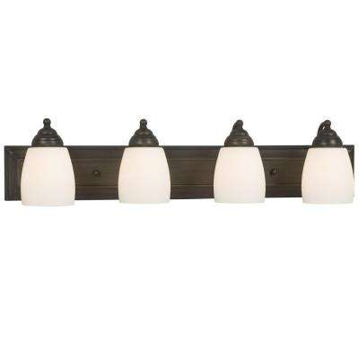Negron 4-Light Oil-Rubbed Bronze Incandescent Bath Vanity Light