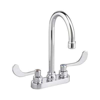Monterrey 4 in. Centerset 2-Handle 1.5 GPM Gooseneck Bathroom Faucet with Limited Swivel Spout in Polished Chrome