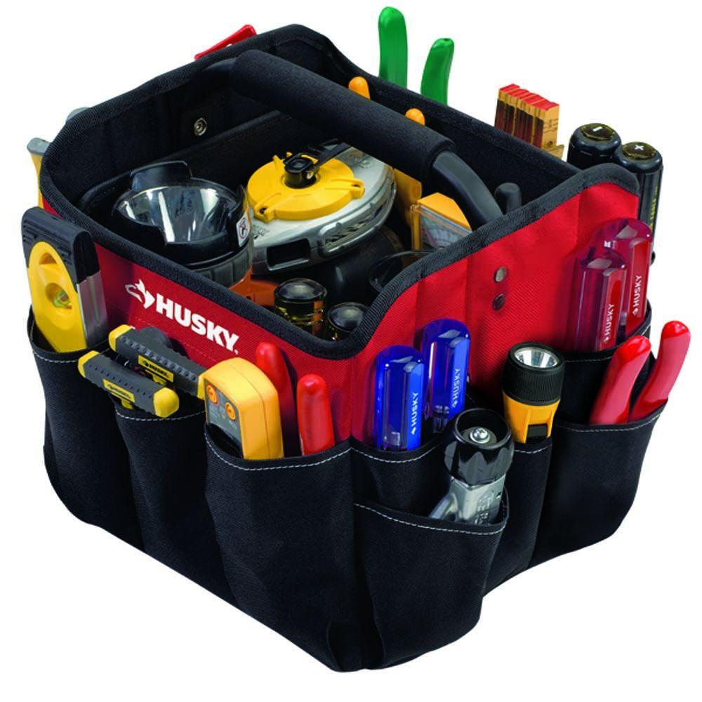 Husky 10 in. Foldable All-Purpose Tote