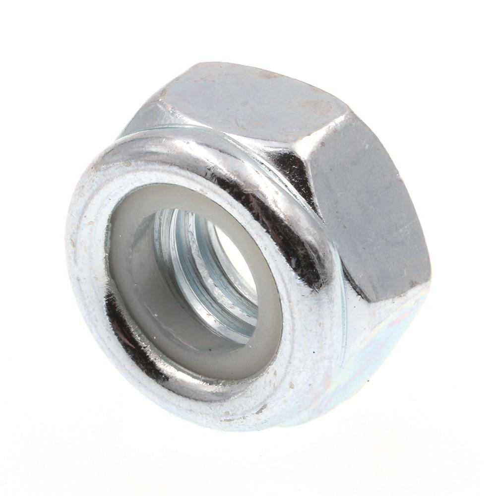 Prime-Line M8-1.25 Class 8 Metric Zinc Plated Steel Nylon Insert Lock Nuts (25-Pack)