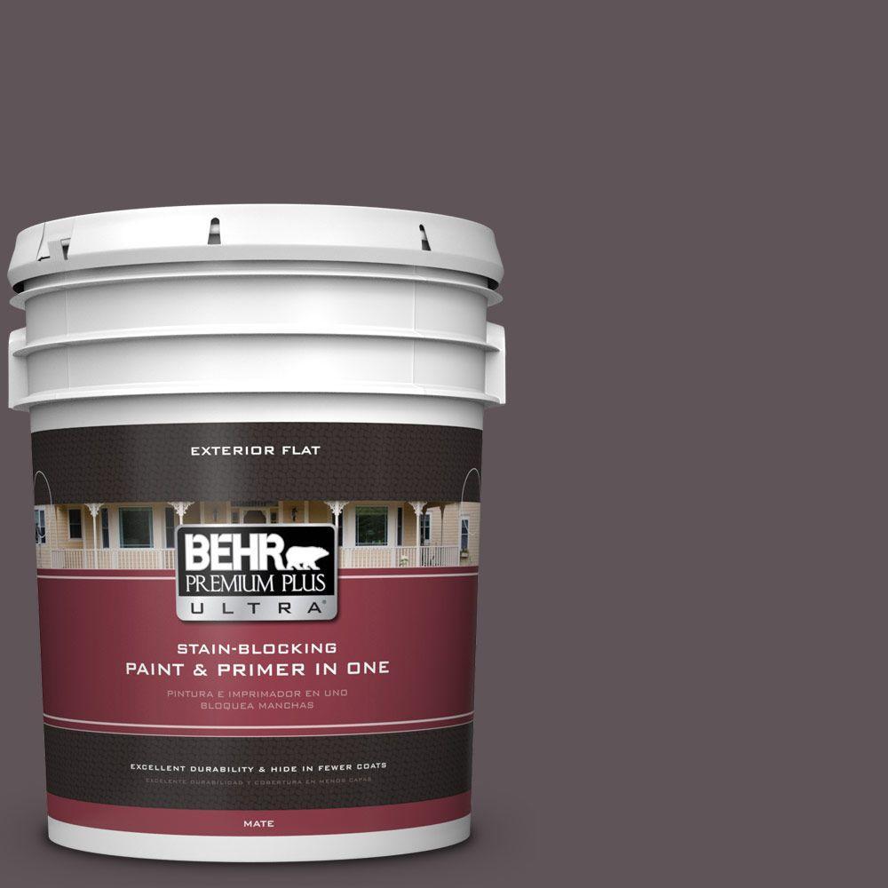 BEHR Premium Plus Ultra 5-gal. #N570-6 Virtuoso Flat Exterior Paint