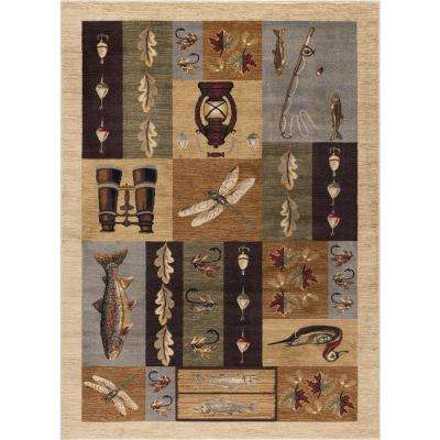 Nature Ivory 5 ft. 3 in. x 7 ft. 3 in. Lodge Area Rug