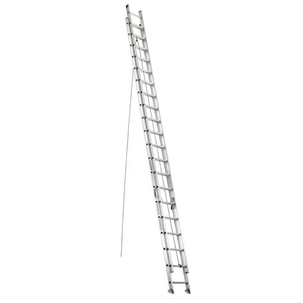 40 ft. Aluminum Extension Ladder with 250 lbs. Load Capacity Type I Duty Rating