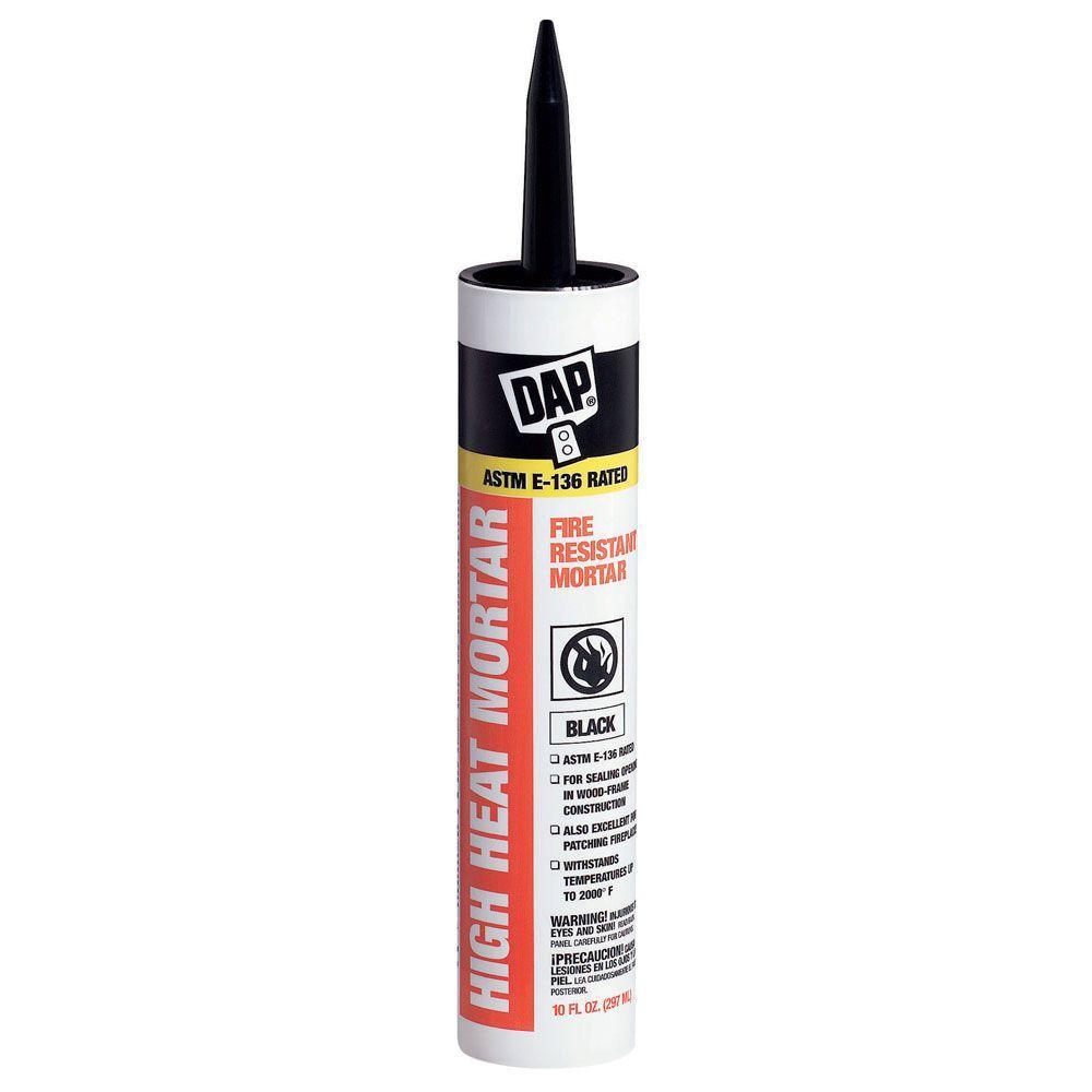 DAP 10.1 oz. Black High Heat Mortar Sealant (12-Pack)