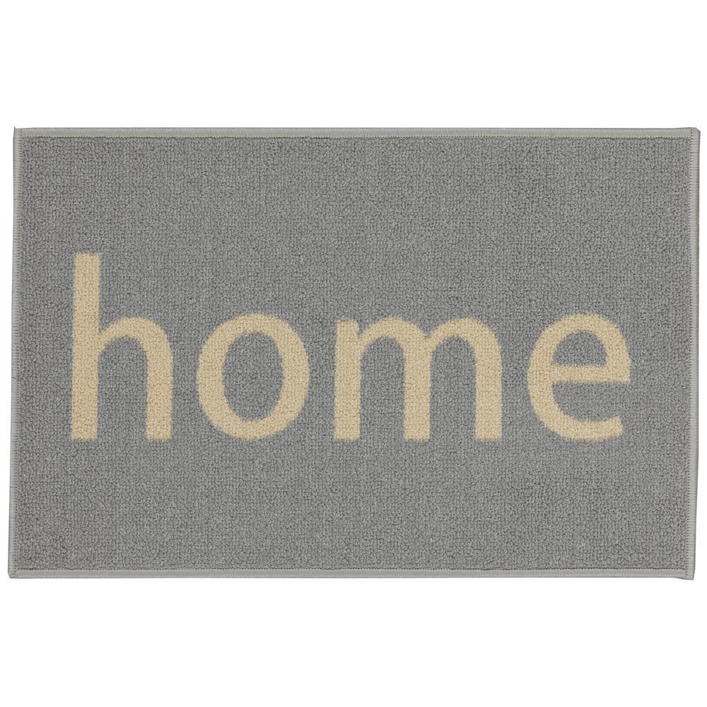 Doormat Collection Rectangular Grey and Beige Home 20 in. x 30 in. Door Mat