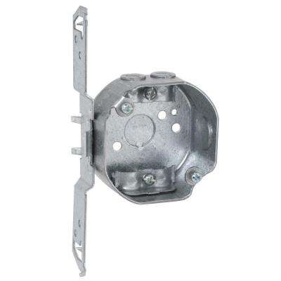 3-1/2 in. Octagon Box 1-1/2 in. Deep with NMSC Clamps and TS Bracket (25-Pack)
