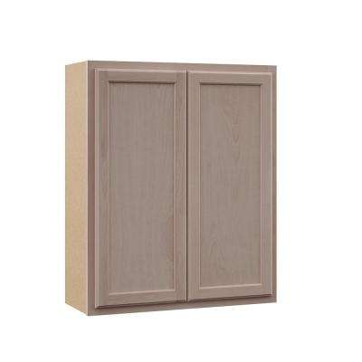 Hampton Assembled 30x36x12 in. Wall Cabinet in Unfinished Beech