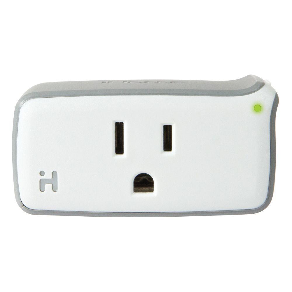 iHome 1800-Watt 120-Volt AC 60Hz 15 Amp Load Smart Plug, White