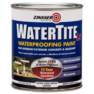 1 qt. WaterTite LX Low VOC Mold and Mildew-Proof White Water Based Waterproofing Paint (Case of 6)
