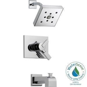 Vero 1 Handle H2Okinetic Tub And Shower Faucet Trim Kit In Chrome (Valve Not
