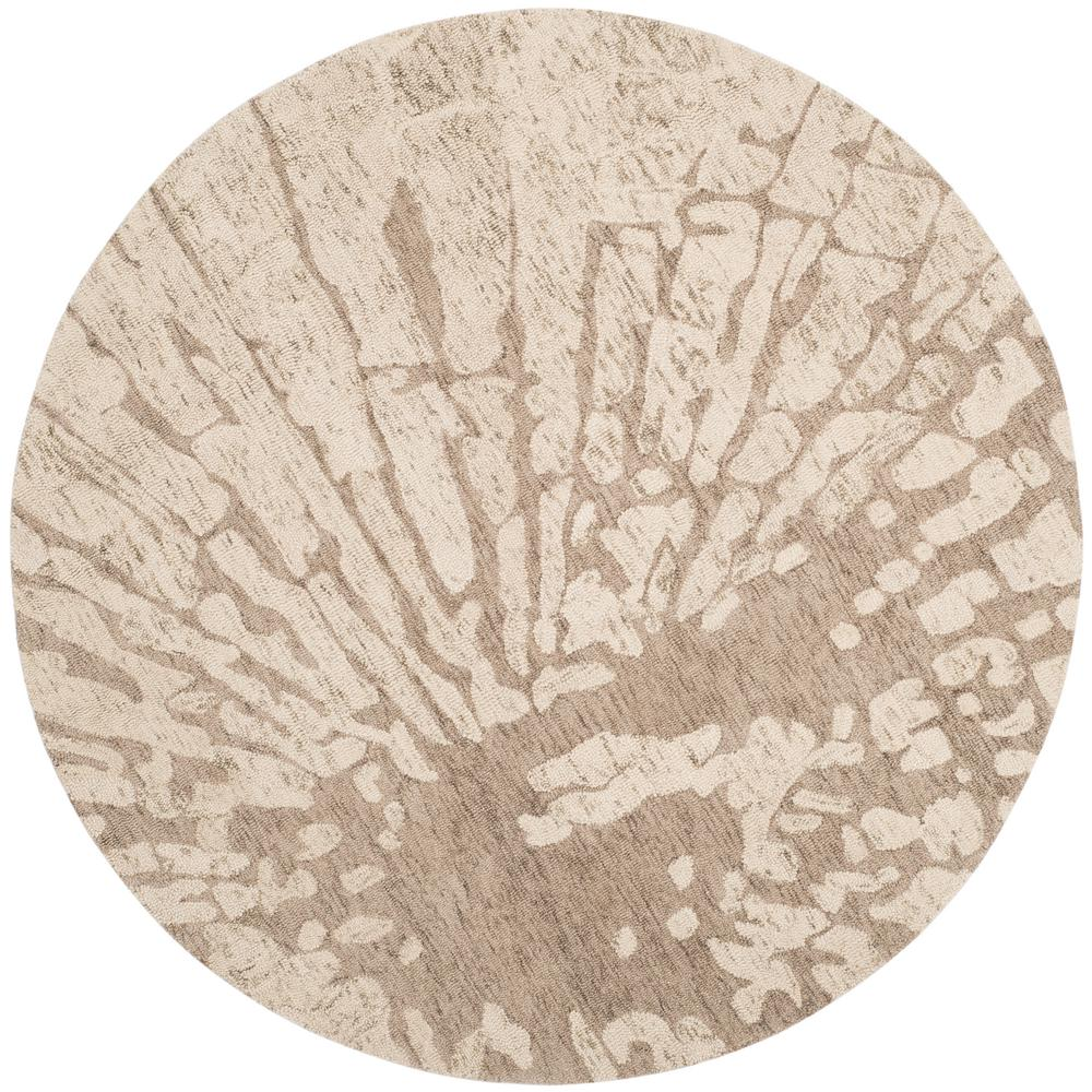 Bella Winter Taupe 6 ft. x 6 ft. Round Area Rug