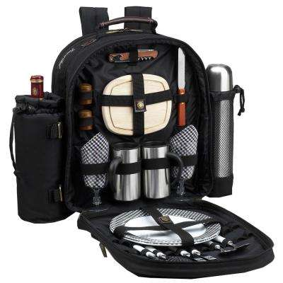 Deluxe Equipped 2-Person Picnic and Coffee Backpack in Bold Navy