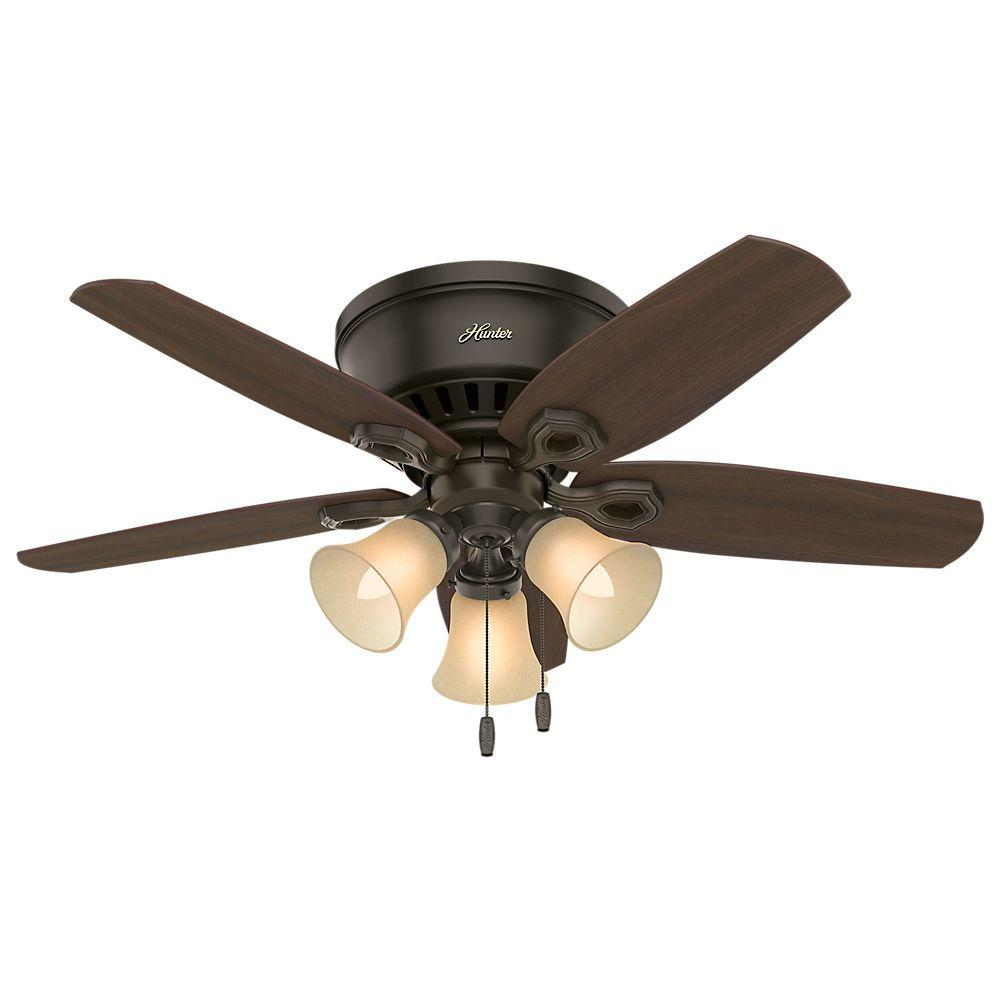 Ceiling Fans In My House : Hunter builder low profile in indoor new bronze