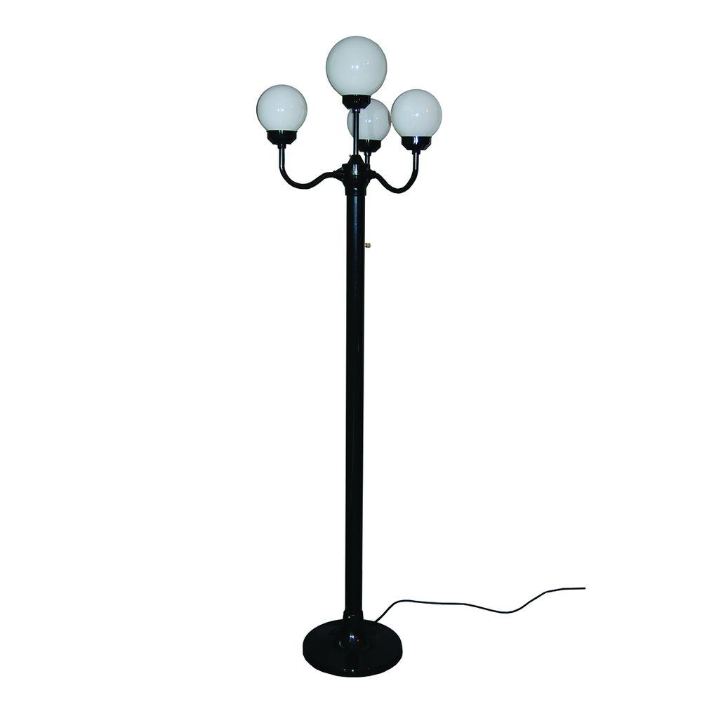 polymer products 76 in outdoor black luminaire floor lamp. Black Bedroom Furniture Sets. Home Design Ideas