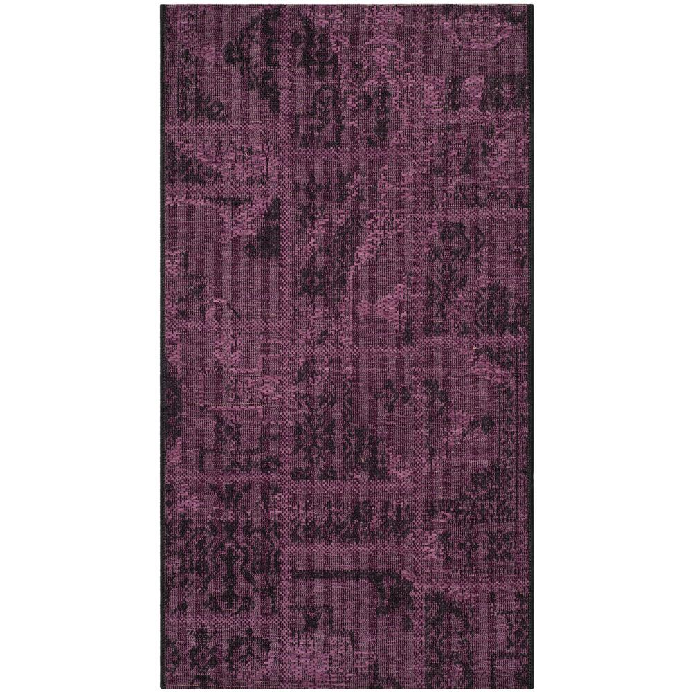 Safavieh Palazzo Black Purple 2 Ft X 4 Area Rug