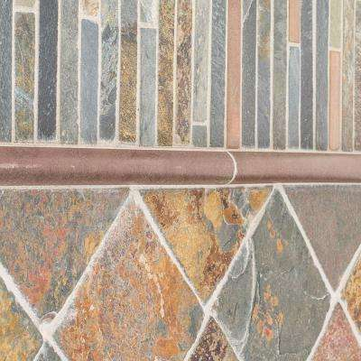 Satin Copper 11 5 In X 12 8 Mm Slate Mosaic