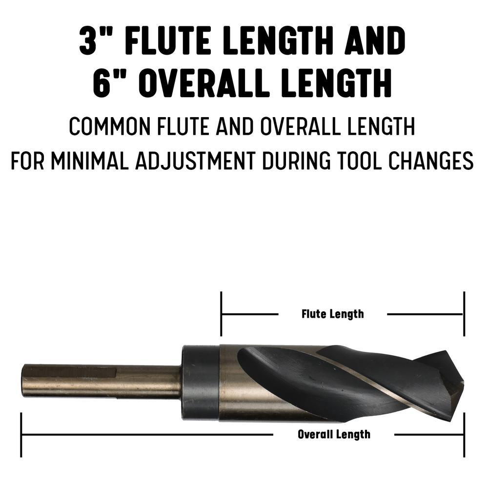 DWDBL3//8 3//8 High Speed Steel Drill Bit Blank Drill America DWDBL Series