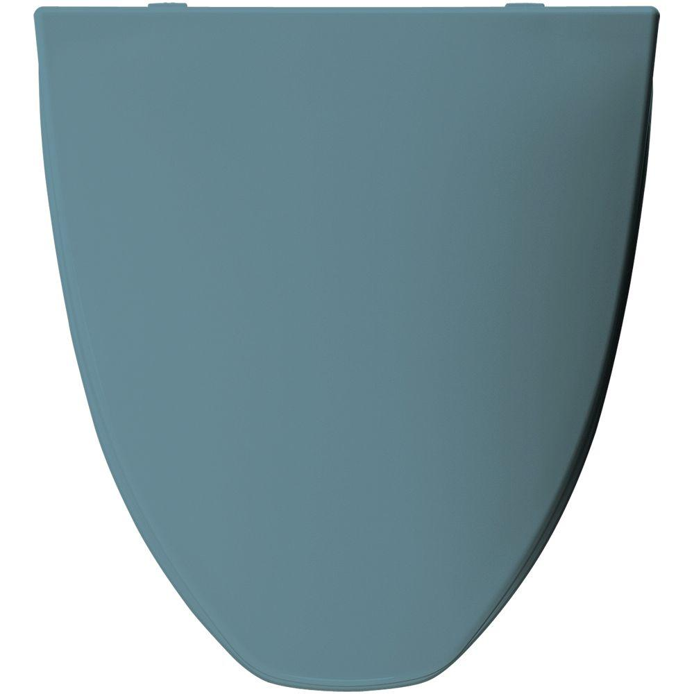 Elongated Closed Front Toilet Seat in Regency Blue