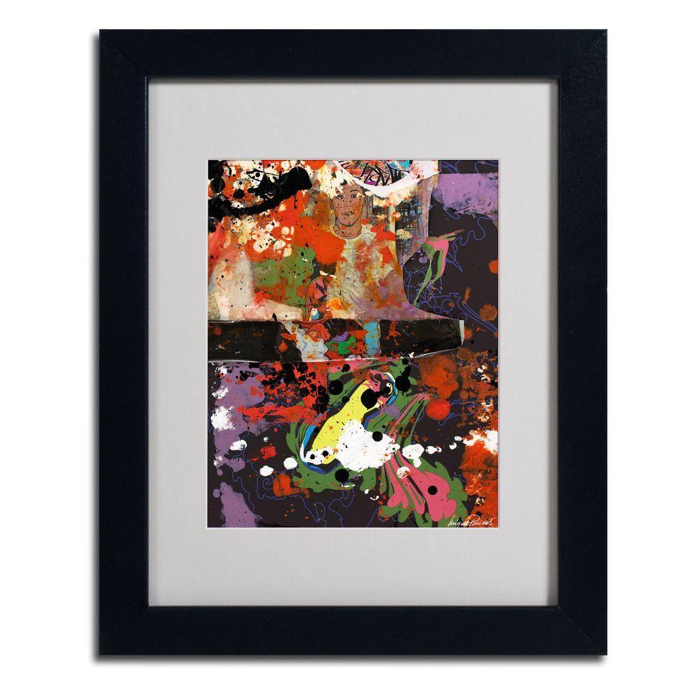 Trademark Fine Art 11 in. x 14 in. Urban Collage IV Matted Framed Art