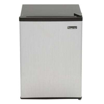 2.4 cu. ft. Mini Refrigerator in Stainless Look