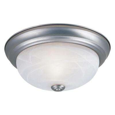 Reedley Collection 2-Light Pewter Ceiling Flushmount