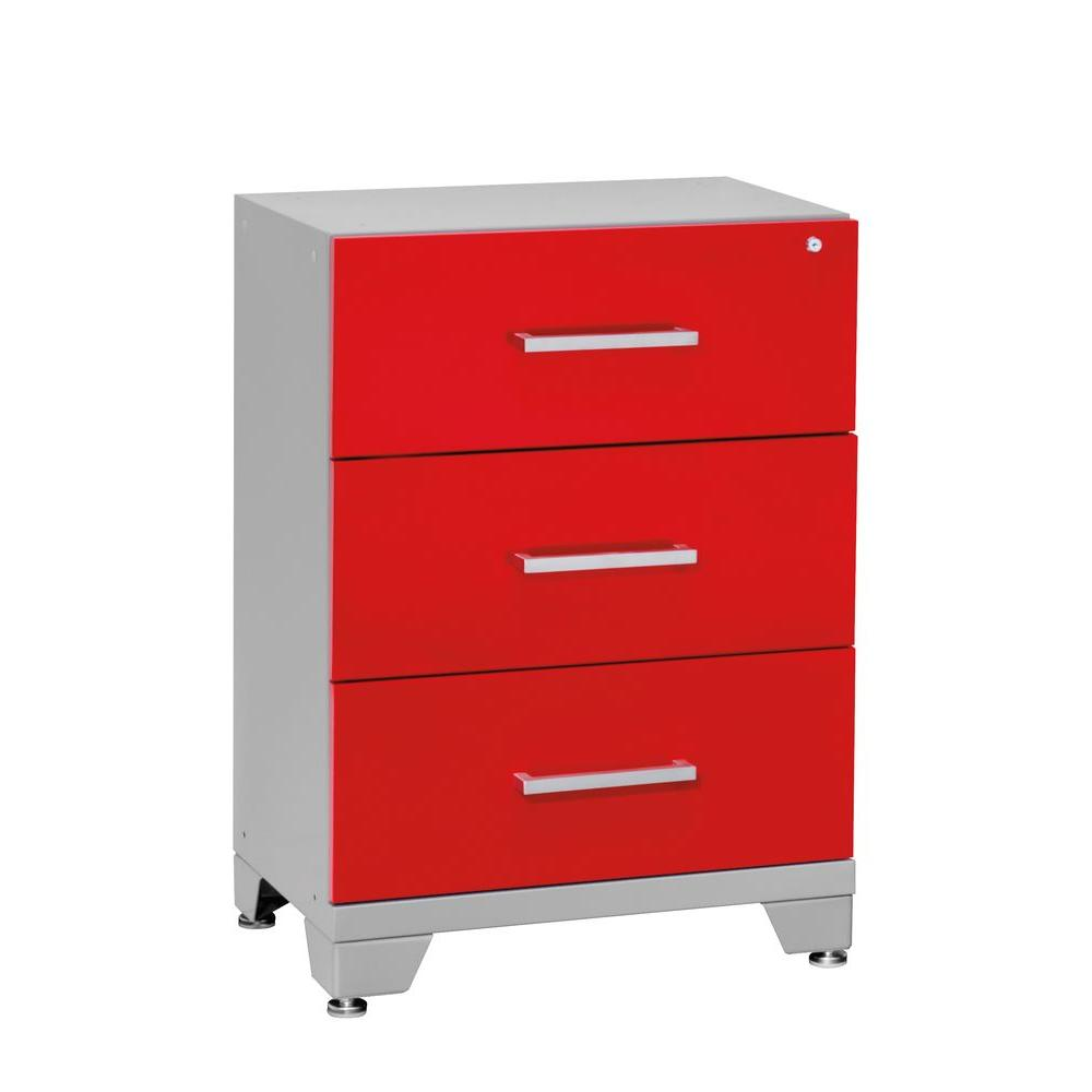NewAge Products Performance 33 in. H x 24 in. W x 16 in. D 3-Drawer Steel Tool Chest in Red